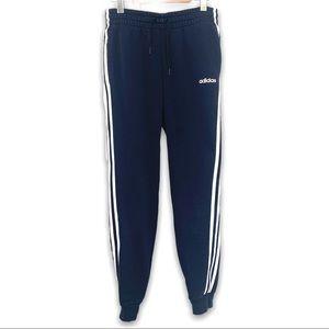 Adidas Three Stripe Navy Blue Jogger Sweatpants